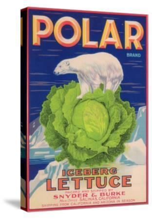Polar Lettuce Label - Salinas, CA-Lantern Press-Stretched Canvas Print