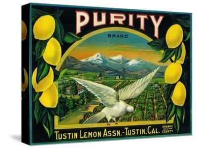 Purity Lemon Label - Tustin, CA-Lantern Press-Stretched Canvas Print