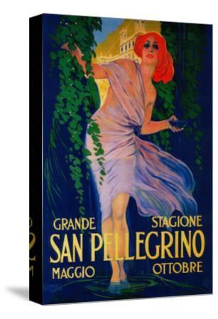 San Pellegrino Vintage Poster - Europe-Lantern Press-Stretched Canvas Print