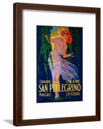 San Pellegrino Vintage Poster - Europe-Lantern Press-Framed Art Print