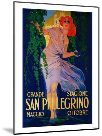 San Pellegrino Vintage Poster - Europe-Lantern Press-Mounted Art Print