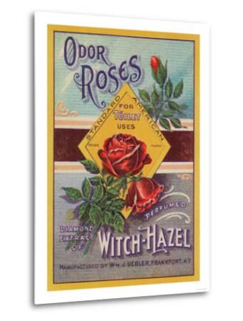 Odor Roses Witch-Hazel Label - Frankfort, NY-Lantern Press-Metal Print