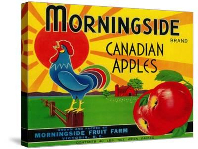 Morningside Apple Label - Canada-Lantern Press-Stretched Canvas Print