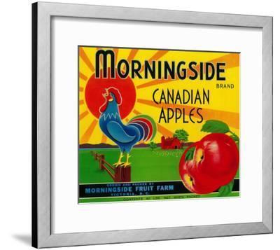 Morningside Apple Label - Canada-Lantern Press-Framed Art Print