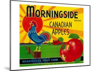 Morningside Apple Label - Canada-Lantern Press-Mounted Art Print