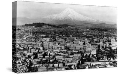 Mt. Hood View from Portland, Oregon Photograph - Portland, OR-Lantern Press-Stretched Canvas Print