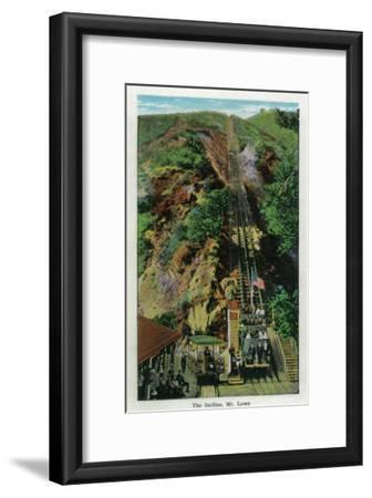 The Incline at Mt. Lowe - Mt. Lowe, CA-Lantern Press-Framed Art Print