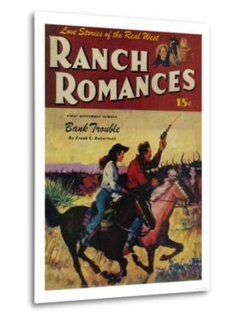 Ranch Romances Magazine Cover-Lantern Press-Metal Print