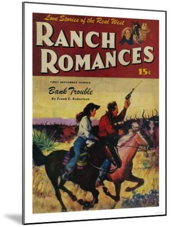 Ranch Romances Magazine Cover-Lantern Press-Mounted Art Print