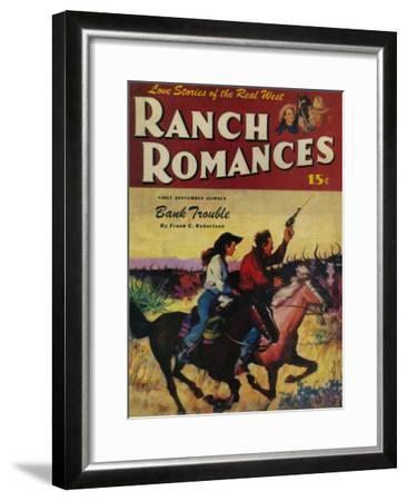 Ranch Romances Magazine Cover-Lantern Press-Framed Art Print