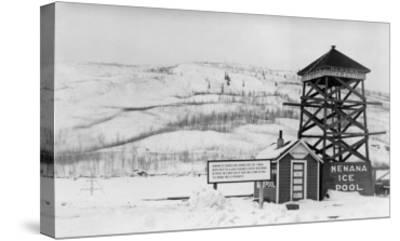 Nenana Ice Pool near Tanana River, Alaska Photograph - Fairbanks, AK-Lantern Press-Stretched Canvas Print