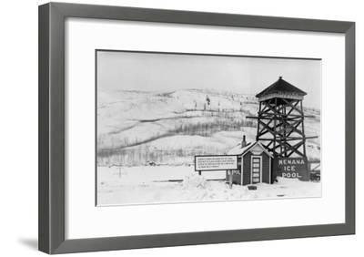 Nenana Ice Pool near Tanana River, Alaska Photograph - Fairbanks, AK-Lantern Press-Framed Art Print