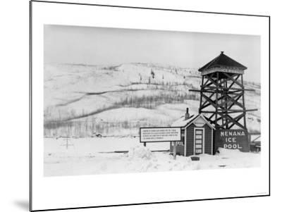 Nenana Ice Pool near Tanana River, Alaska Photograph - Fairbanks, AK-Lantern Press-Mounted Art Print