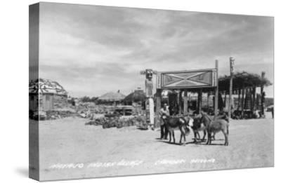 Navajo Indian Village in Chambers, Arizona Photograph - Chambers, AZ-Lantern Press-Stretched Canvas Print