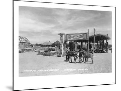 Navajo Indian Village in Chambers, Arizona Photograph - Chambers, AZ-Lantern Press-Mounted Art Print