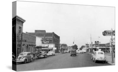 Pasco, WA Main Street View Photograph - Pasco, WA-Lantern Press-Stretched Canvas Print