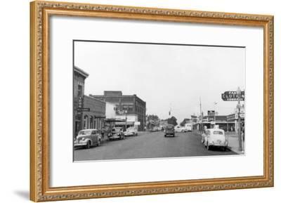 Pasco, WA Main Street View Photograph - Pasco, WA-Lantern Press-Framed Art Print