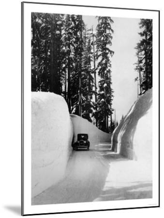 Mt. Hood Loop Road Snow Canyon Photograph - Mt. Hood, OR-Lantern Press-Mounted Art Print