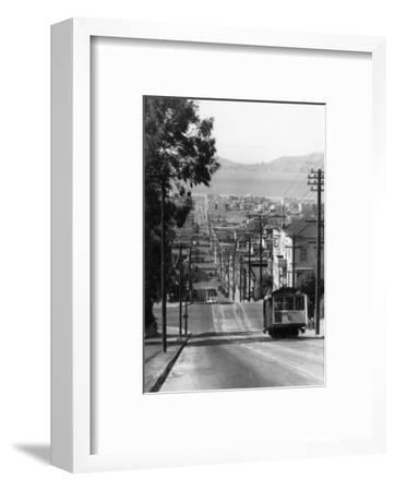 San Francisco, CA Cable Cars on Fillmore St. Hill Photograph - San Francisco, CA-Lantern Press-Framed Art Print