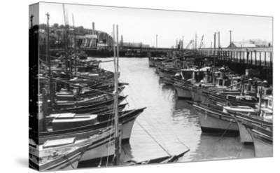 San Francisco, CA Fisherman's Wharf Boats Photograph - San Francisco, CA-Lantern Press-Stretched Canvas Print