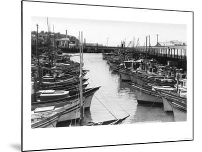 San Francisco, CA Fisherman's Wharf Boats Photograph - San Francisco, CA-Lantern Press-Mounted Art Print