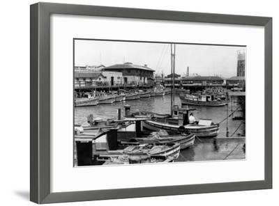 San Francisco, CA Fisherman's Wharf Scene Photograph - San Francisco, CA-Lantern Press-Framed Art Print
