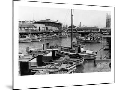 San Francisco, CA Fisherman's Wharf Scene Photograph - San Francisco, CA-Lantern Press-Mounted Art Print