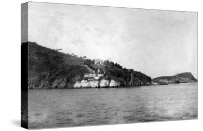 San Francisco, CA Yerba Buena Island and Lighthouse Photograph - San Francisco, CA-Lantern Press-Stretched Canvas Print