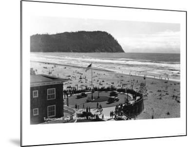 Seaside, Oregon Beach Scene from Air Photograph - Seaside, OR-Lantern Press-Mounted Art Print