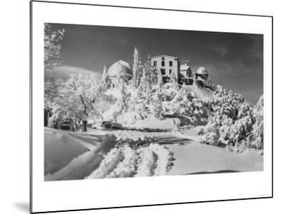 Mount Hamilton, California Lick Observatory Photograph - Mount Hamilton, CA-Lantern Press-Mounted Art Print