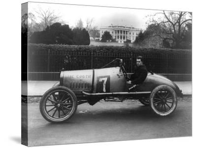Racecar Parked in Front of the White House Photograph - Washington, DC-Lantern Press-Stretched Canvas Print