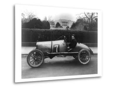 Racecar Parked in Front of the White House Photograph - Washington, DC-Lantern Press-Metal Print