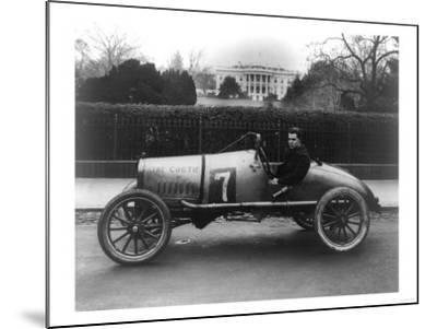 Racecar Parked in Front of the White House Photograph - Washington, DC-Lantern Press-Mounted Art Print