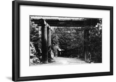 Mt. Rainier National Park Entrance Photograph - Mount Rainier, WA-Lantern Press-Framed Art Print