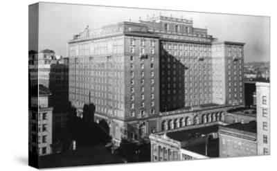 Seattle, WA View of Olympic Hotel Downtown Photograph - Seattle, WA-Lantern Press-Stretched Canvas Print