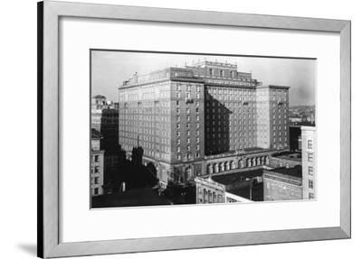 Seattle, WA View of Olympic Hotel Downtown Photograph - Seattle, WA-Lantern Press-Framed Art Print