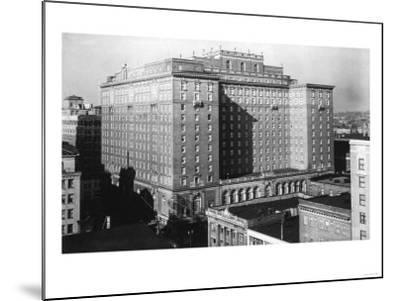 Seattle, WA View of Olympic Hotel Downtown Photograph - Seattle, WA-Lantern Press-Mounted Art Print