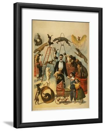Trained Dog Act Theatrical Poster-Lantern Press-Framed Art Print