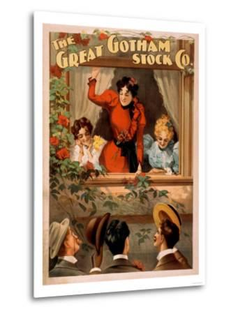 The Great Gotham Stock Co. Theatre Poster-Lantern Press-Metal Print
