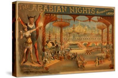 The Arabian Nights - Aladdin's Wonderful Lamp Poster-Lantern Press-Stretched Canvas Print