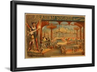 The Arabian Nights - Aladdin's Wonderful Lamp Poster-Lantern Press-Framed Art Print