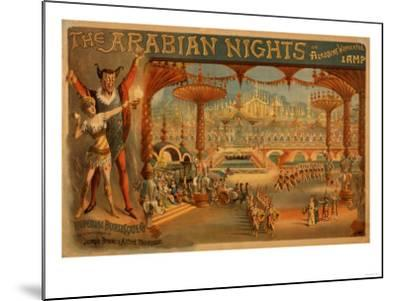 The Arabian Nights - Aladdin's Wonderful Lamp Poster-Lantern Press-Mounted Art Print