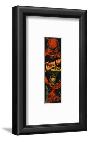 """Thurston """"Great Magician Show of the Universe"""" Poster-Lantern Press-Framed Art Print"""