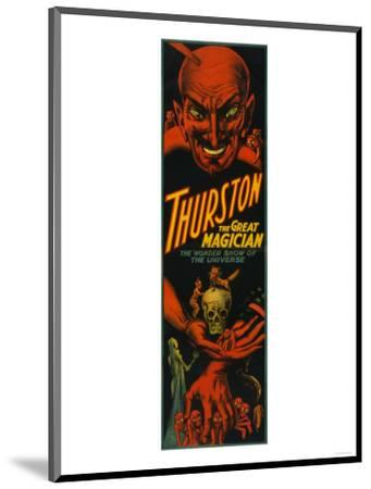 "Thurston ""Great Magician Show of the Universe"" Poster-Lantern Press-Mounted Art Print"
