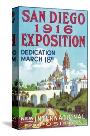 San Diego International Exposition Poster - San Diego, CA-Lantern Press-Stretched Canvas Print