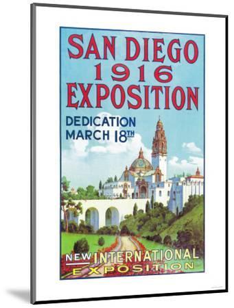 San Diego International Exposition Poster - San Diego, CA-Lantern Press-Mounted Art Print