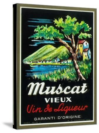 Muscat Vieux Wine Label - Europe-Lantern Press-Stretched Canvas Print