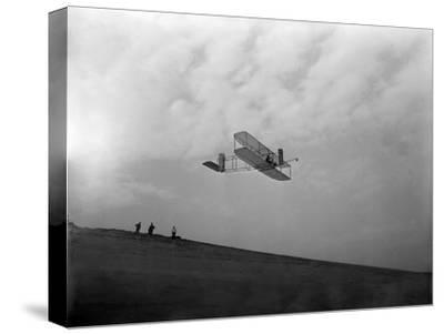 Orville Wright Testing Glider Photograph - North Carolina-Lantern Press-Stretched Canvas Print