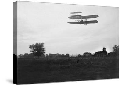 Orville Wright Flies High in the Sky Photograph - Dayton, OH-Lantern Press-Stretched Canvas Print