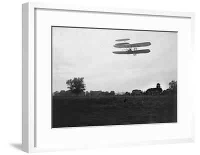 Orville Wright Flies High in the Sky Photograph - Dayton, OH-Lantern Press-Framed Art Print